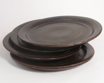 Side plate. With bronze glaze. 19 cm.