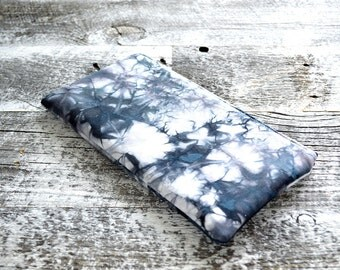 Shibori Pouch - Grey Clutch - Carbon