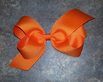 Shades of Oranges, Yellows & Purples Basic Toddler Bow