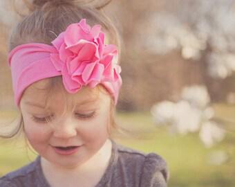 Baby Hair Bows - Pink Baby Hair Bow - Nora Headband
