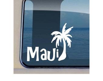 Maui Palm Tree Decal Hawaiian Plant Vinyl Sticker - 149