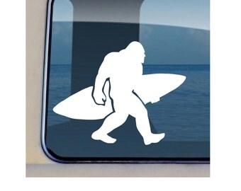 Big Foot Decal Surfing Saquatch Sticker 408