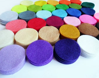 "Felt Circles. Set of 306 felt circles. Size 1.5"" inch"