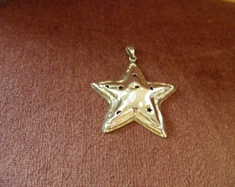 SALE******Large Sterling Silver Star Pendant**********Was 165.00****Now 95.00