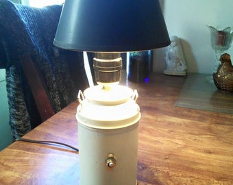 Mini Milk Can Upcycled Lamp
