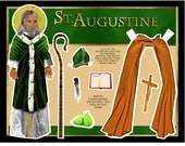 Saint Augustine of Hippo DIGITAL download paper doll set