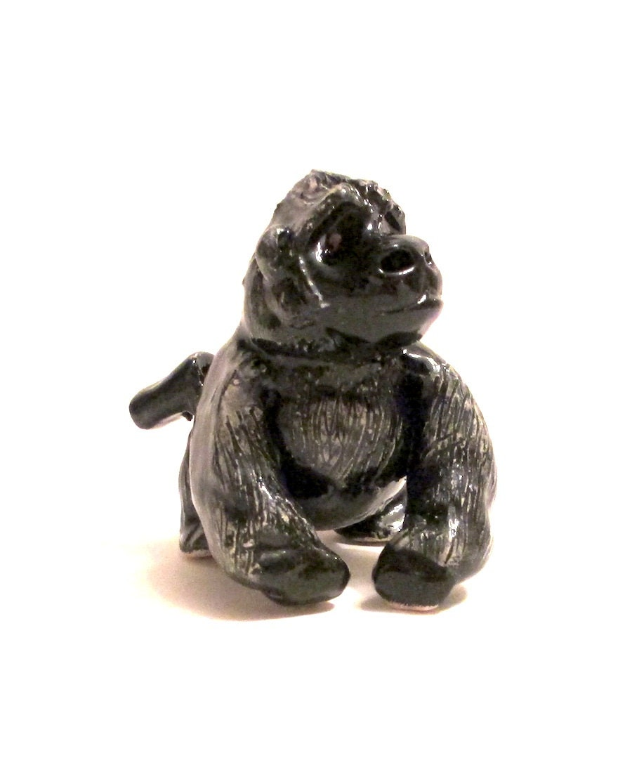 Silverback Gorilla clay whistle Gorilla Sculpture