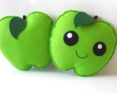 Felt Apple, Apple Plush, Apple Soft Toy, Cute Apple, Green Apple, Apple Gift