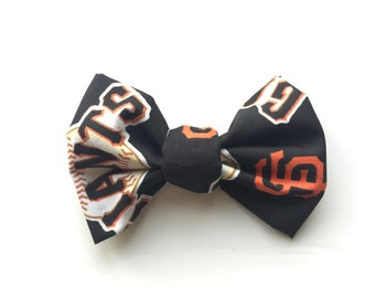 PET BOW: San Francisco Giants Inspired Pet Bow for Dogs or Cats // Gifts for Dogs // Dog Bow Tie // Pet Bow Tie