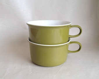 Vintage Melmac Green Stacking Mugs from Allied Chemical