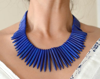 Blue Spike Necklace