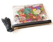 Rainbow Sequin and Glitter Plastic Coin Purse