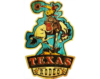 Texas Rodeo Sticker, Cowboy, Horse, Sports