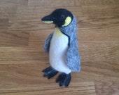 Penguin needle felted handmade gift