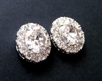 Bridal Earrings, Wedding Earrings, Crystal Earrings, Stud Earrings, Bridesmaid Earrings, Bridal Stud Earrings, Vintage Earrings, CZ Stud