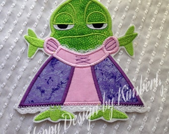 PASCAL in a DRESS  Tangled Inspired Iron on Appliqué