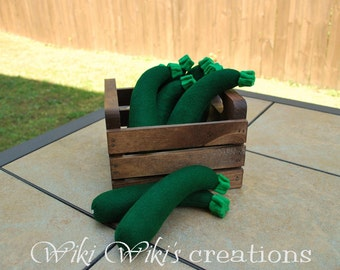 Felt Play Food Plush Zucchini