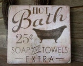 bathroom decor, wood signs, country home decor, home decor, rustic signs, primitive home decor, cottage chic, shabby decor, bath sign,