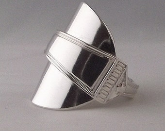 Beautifully Unusual Handmade Antique Sterling Art Deco Spoon Ring dated 1964 Jewellery Unique Gift