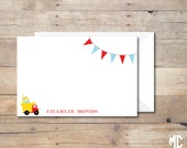 CUSTOMIZED NOTE CARDS -- Dump Truck Collection -- Mirabelle Creations