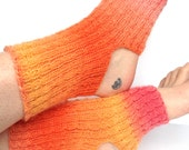 Yoga Socks, Hand Knit, Hipster Socks, Pilates Socks, PiYo Socks, Dance Socks, Pedicure Socks, Yoga Socks, Boho Socks, Hipster, MADE TO ORDER