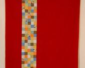 Modern Childs Quilt, Simple Lap Quilt, Bright Wall Hanging, Geometric Quilt, Crib Quilt, Nursery Decor, Handmade Blanket