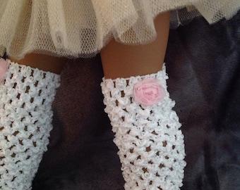 "American Girl Doll Leg Warmers & Matching Headband, 18"" Doll Leg Warmers, Headband Set"