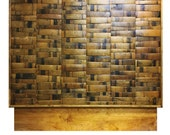 Wine and Bourbon Barrel Headboard (black, natural oak, brown, green, hombre)