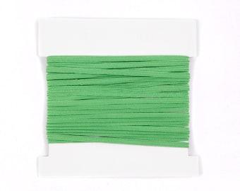 Elastic, 1/8th inch flat elastic for DIY Making Baby Headbands, skinny elastic - 5, 10, or 20 yard bundles - LIME GREEN