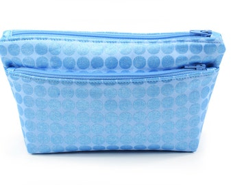 Small Blue Pouch Cosmetic Travel Bag