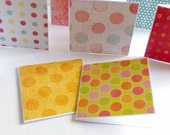 blank assorted polka dots mini note cards or lunch box notes 10 handmade mini cards lunch box note packaging cards