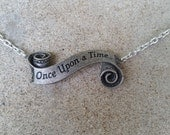 Once Upon a Time Banner Fairy Tale Charm Necklace