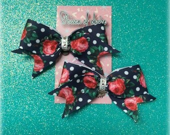 Dots and roses shoe clips
