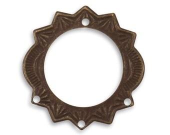 Vintaj 27.5mm Sunburst Ring - SALE