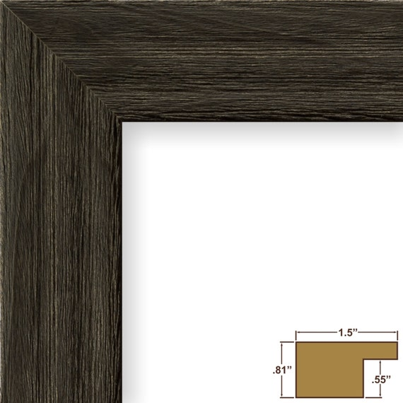 Craig Frames, 11x17 Inch Weathered Black Picture Frame ...