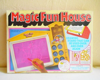 Vintage Magic Fun House New in Box New Old Stock Drawing Toy Never Used