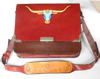 Messenger Bag - Deep Burgundy Flap