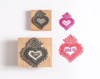 Wedding Rubber Stamp Mexican Love Heart