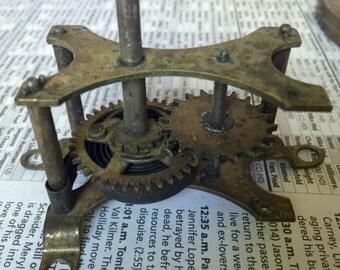 Lot of 15 Vintage Clock Parts Steampunk Supplies