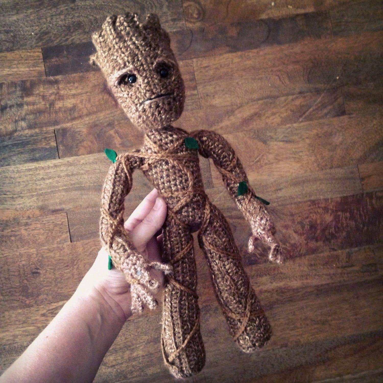 Amigurumi Patterns Groot : Groot inspired tree superhero doll crochet amigurumi pattern