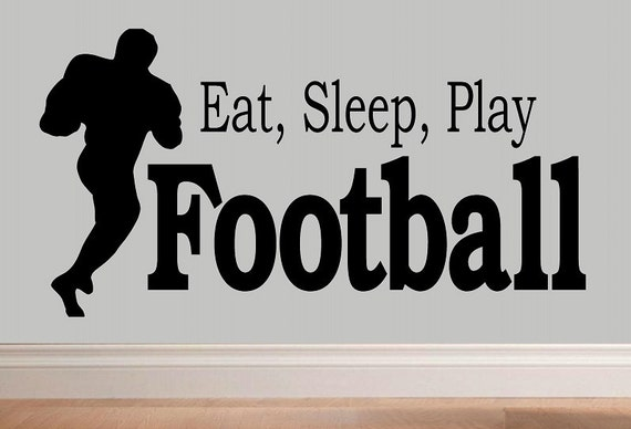 wall decal kids Eat sleep play football decal kids decor nursery decal sport decal boy decal home decor decal for men wall decal living room