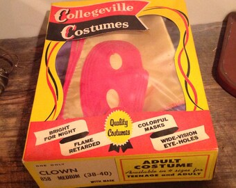 Vintage Collegeville Clown Halloween Costume