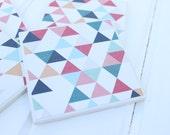 Geometric Triangle Coasters Four Piece Ceramic Tile Set