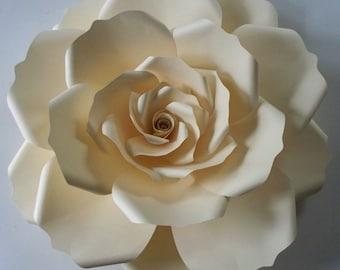 Large Paper Flower,Wedding Backdrop,Ivory Paper Rose,Backdrop,Paper Rose,Wedding Chair,Ivory Wedding,Ivory Paper Flower,Wedding Table Décor