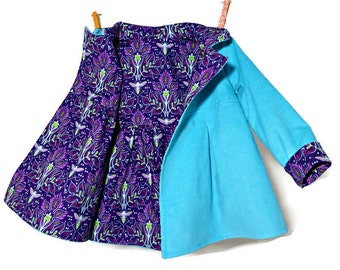 Girls Winter Coat, Toddler Girls Coat, Children's Jacket, Wool Winter Jacket, Girls Dress Coat