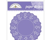 Lilac Paper Doilies 4.5 Inch Set of 75 by Doodlebug Designs for Scrapbooks, Crafts, Food Crafts, and More