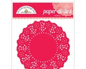 Ladybug Red Paper Doilies 4.5 Inch Set of 75 by Doodlebug Designs for Scrapbooks, Crafts, Food Crafts, and More