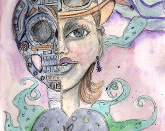 Face Off, Art Print, Steampunk Style