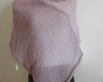 Antique pink poncho mohair wool yarn soft warm lightweight for woman