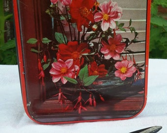 Vintage Floral Confectionery Tin